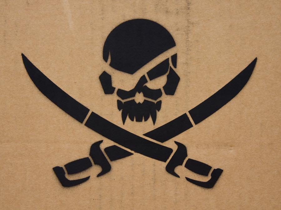 PirateSkull Stencil - ...