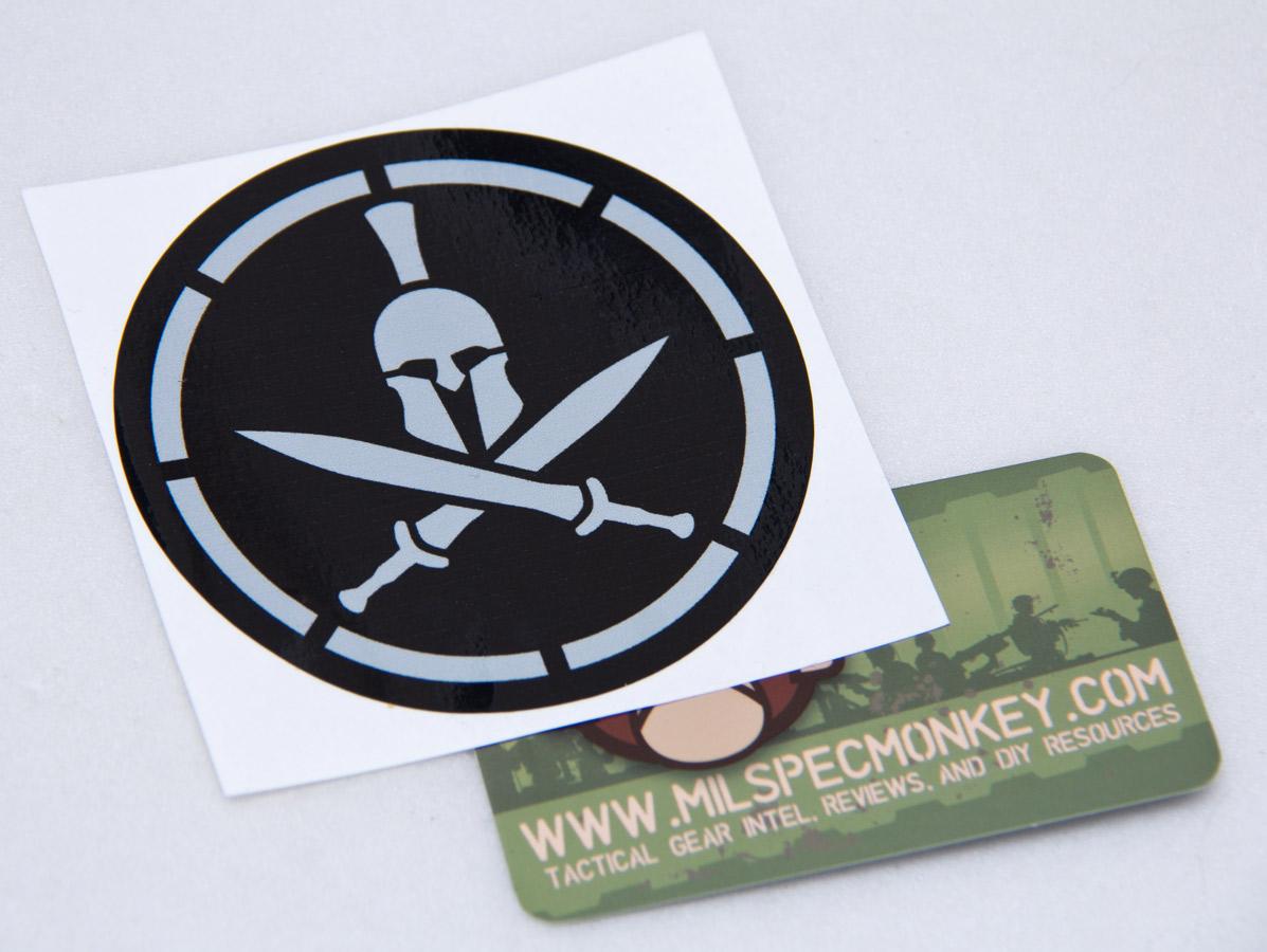 Spartan Helmet Stencil Decal Mil Spec Monkey Store