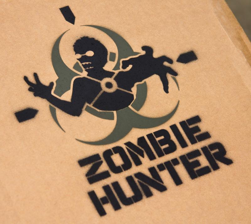 Zombie Head Stencil Zombie hunter stencil Zombie Head Stencil