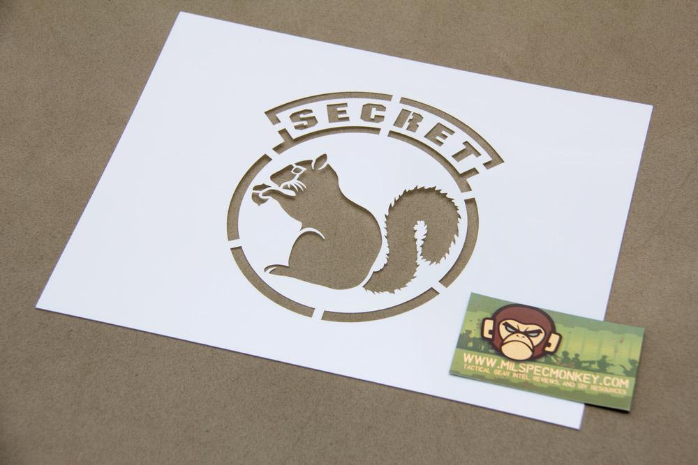 Secret Squirrel Stencil