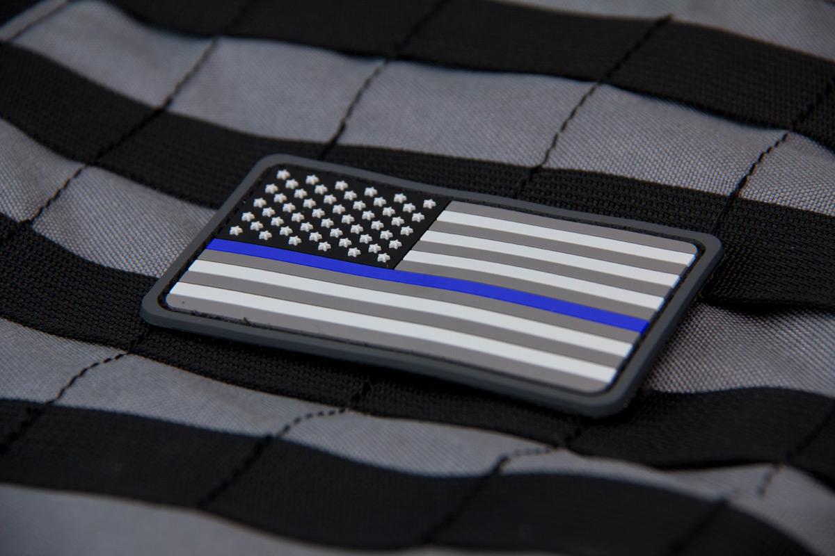 US Flag PVC Thin Blue Line Morale Patch - MIL-SPEC MONKEY STORE 4e461413fb4